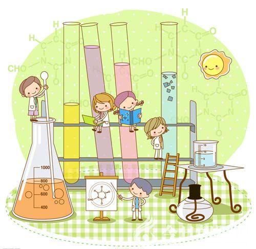 化学仪器卡通手绘