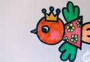 《少儿美术绘画公益课》第五课  小鸟的画法(丁方圆)