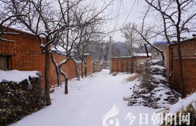 雪中小山村(米铁成)